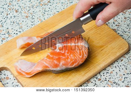Butchering Of Salmon