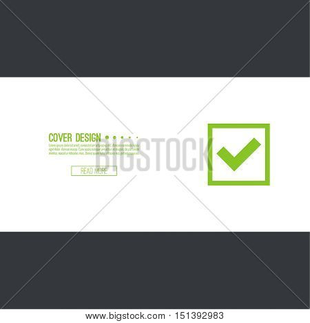 Set of vector buttons with check marks or ticks. checkbox. Web and mobile applications. acceptance positive passed voting. Green. template, layout
