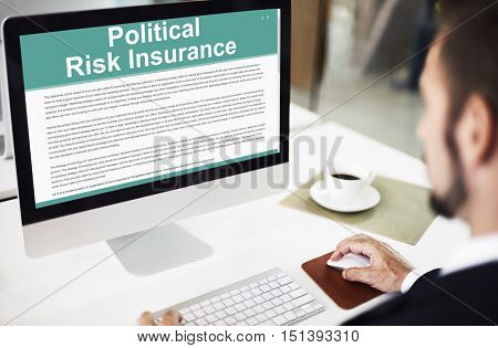 Political Risk Insurance Protection Government Concept