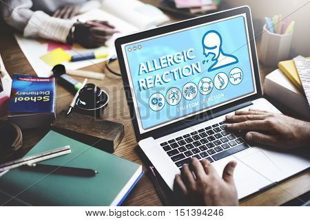 Allergic Reaction Allergy Disorder Sickness Healthcare Concept