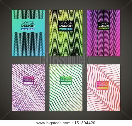 Abstract vector zig-zag design for flyer. Wave design. Business card poster banner cover. Brochure template. Flyer design. Beautiful design and layout. A4 size with simple geometric shapes