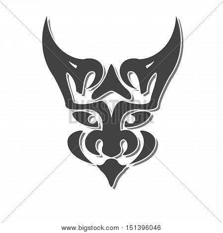 mystic chimera face fantasy vector design abstract vector illustration