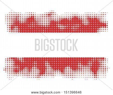 austrian flag symbol halftone vector background illustration