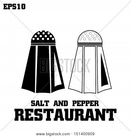 salt and pepper restaurant vector graphics illustration logo pepper and salt on a white background with the inscription