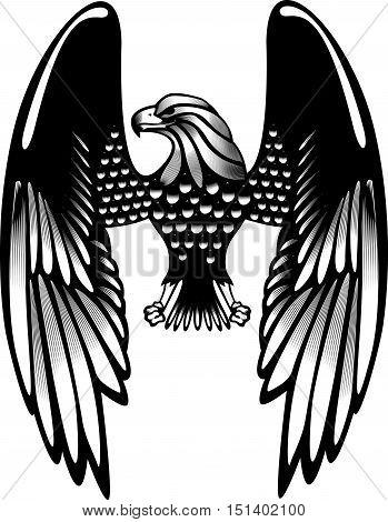 Eagle American Symbol Hawk Tattoo Military Emblem Freedom