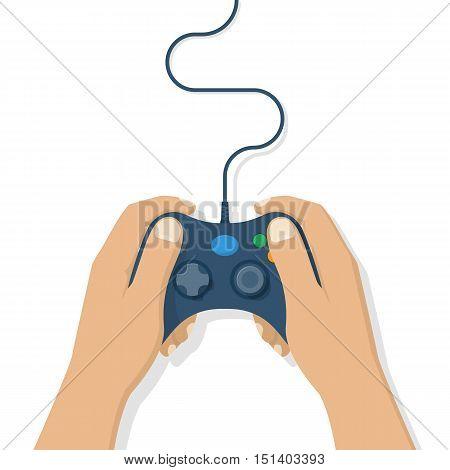 Gamer Holding Gamepad