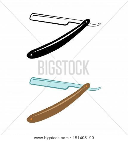 Straight razor vector isolated on a white background vector illustration