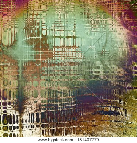Old grunge vintage background or shabby texture with different color patterns: yellow (beige); brown; green; blue; red (orange); purple (violet)