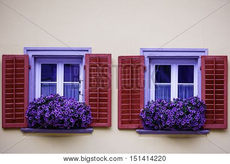 The window of a house in switzerland