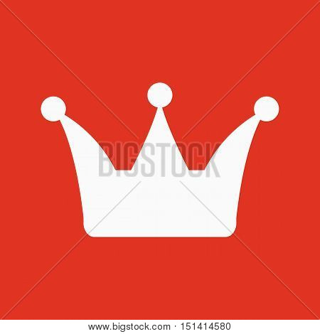 The crown icon. Crown symbol. Flat Vector illustration