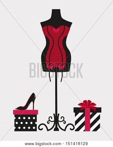 underwear vector corset lingerie shoes shoes heels