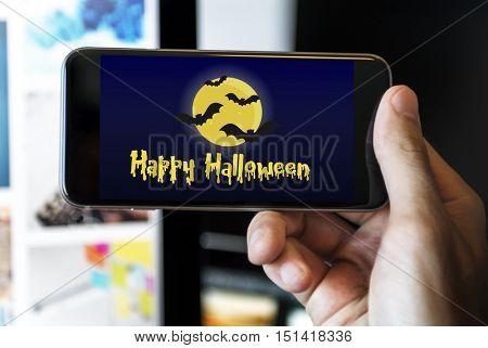 Halloween Trick Treat Spooky Creepy Pumpkin Concept