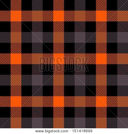 Halloween Tartan Plaid Seamless Pattern Textures. Perfect for Halloween projects. Trendy Flannel Shirt Tartan Style Backgrounds.