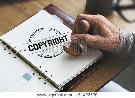 Copyright Design License Patent Trademark Value Concept