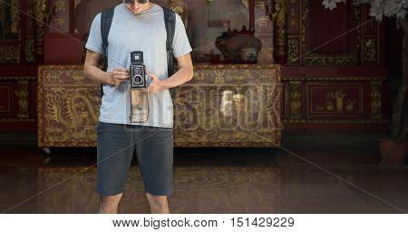 TravelTrip Vacation Camera Photo Memory Couple Concept