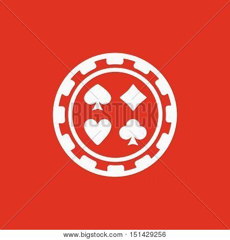 The casino chip icon. Casino Chip symbol. Flat Vector illustration