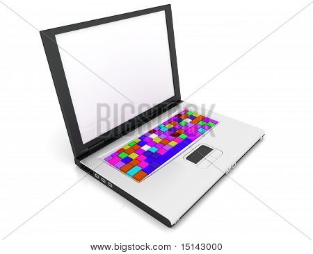 Computer Keyboard In Rainbow colors