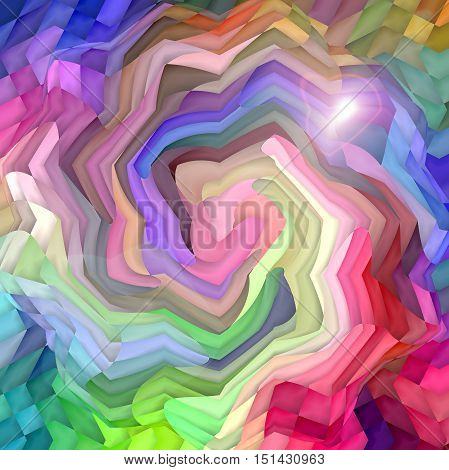 Abstract coloring background of the color harmonies gradient with spherize,wave, lighting and twirl effects