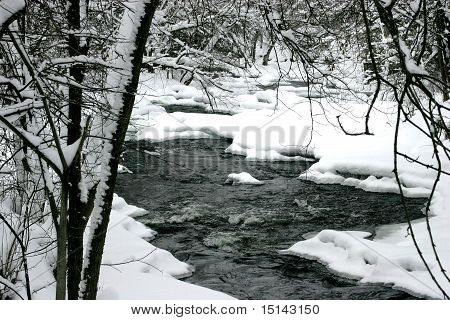 Frosted river bend