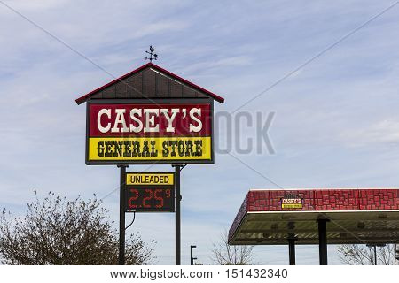 Kokomo - Circa October 2016: Casey's General Store Gas and Convenience Location I