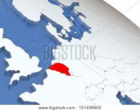 Belgium On Globe