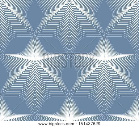 Vector ornamental pattern seamless art background decorated with white lines best for graphic and web design. Geometric ornate decoration.