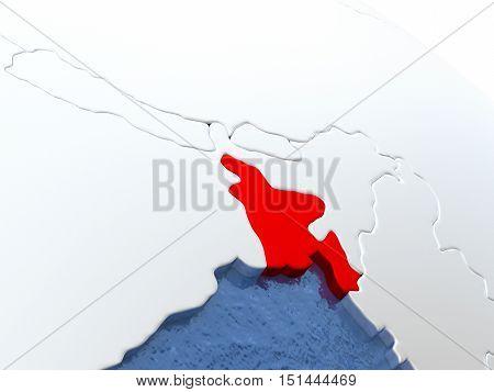 Bangladesh On Globe