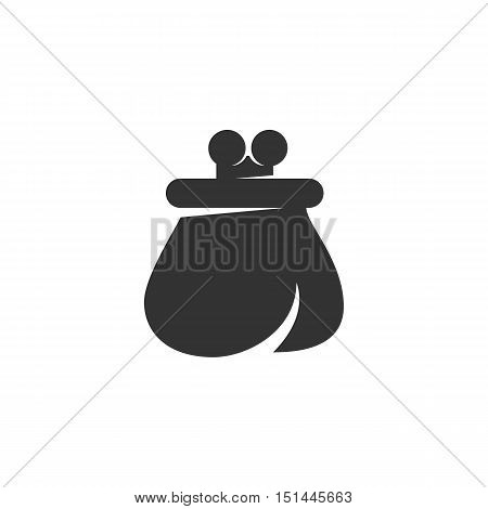 Money purse icon isolated on white background. Money purse vector logo. Flat design style. Modern vector pictogram for web graphics - stock vector