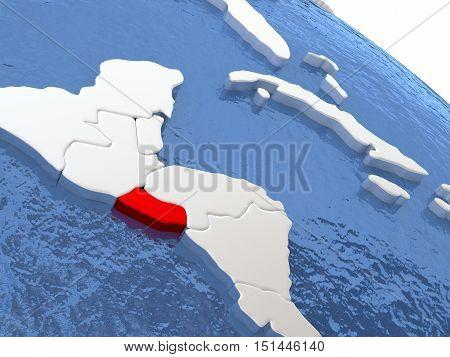 El Salvador On Globe