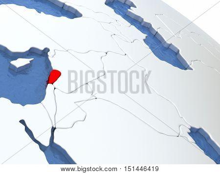 Lebanon On Globe