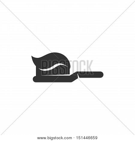 Toothbrush Icon isolated on a white background. Toothbrush Logo design vector template. Simple Logotype concept icon. Symbol, sign, pictogram, illustration - stock vector