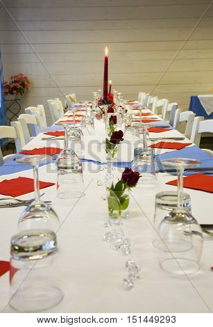 Dressed Long Table