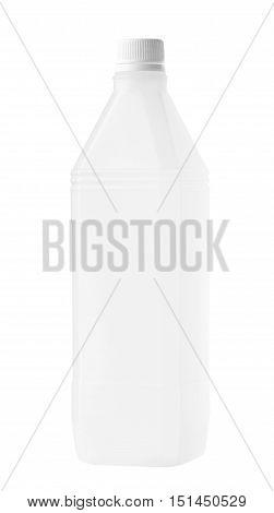Rectangular Plastic Bottle isolated on white background