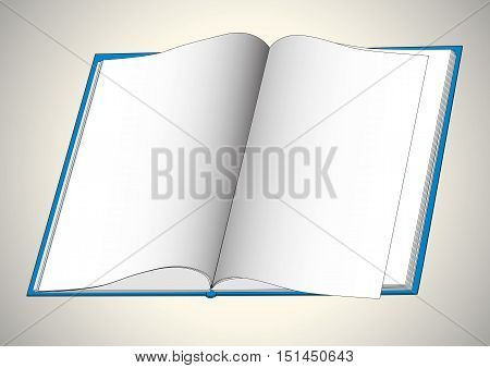 Open book with blank pages. Vector illustration