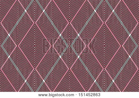 Red vector ornamental pattern seamless art background decorated with lines best for graphic and web design. Geometric ornate overlapping decoration.
