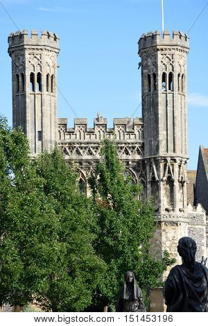 Towers at Entrance of St Augustines abbey canterbury kent