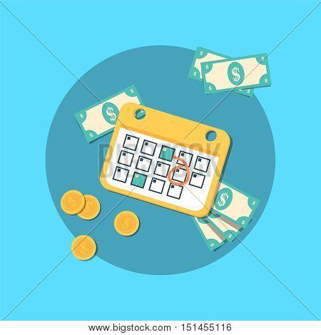 payment schedule day calendar payday deadline money