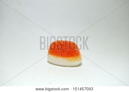 Sweet orange candy soft candy crescent shaped