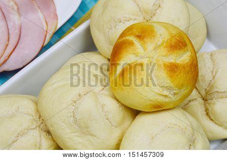 Kaiser roll wait for baking  Kaisersemmel is German name, Kaiser roll is English name