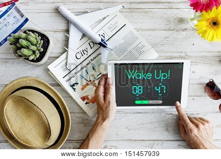Reminder Wake Up Clock Concept