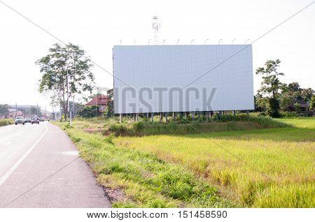 empty billboard. side road empty billboard. Advertise