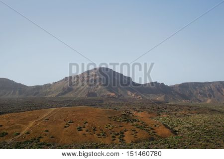 Desert Landscape In Volcan Teide National Park .