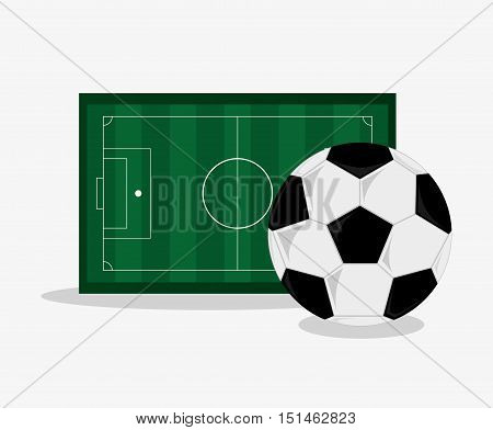 Ball and league icon. Soccer sport competition game and hobby theme. Colorful design. Vector illustration