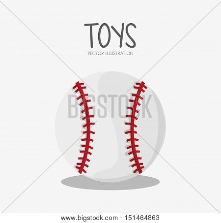Ball icon. Baseball sport competition game and hobby theme. Colorful design. Vector illustration