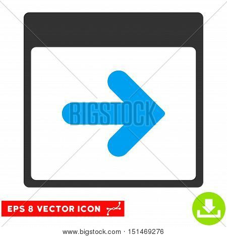 Next Calendar Day icon. Vector EPS illustration style is flat iconic bicolor symbol, blue and gray colors.