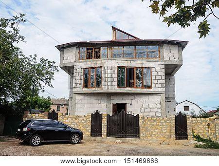 Construction of single-family house in Odessa Ukraine