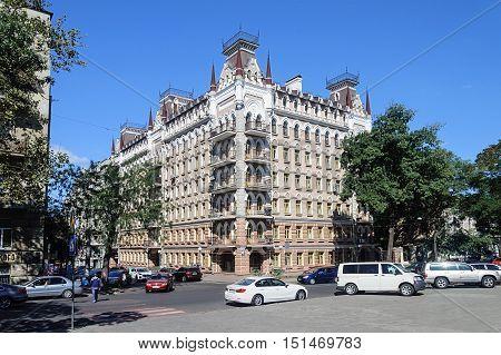 Beautiful modern residential building near the Shevchenko park in Odessa Ukraine