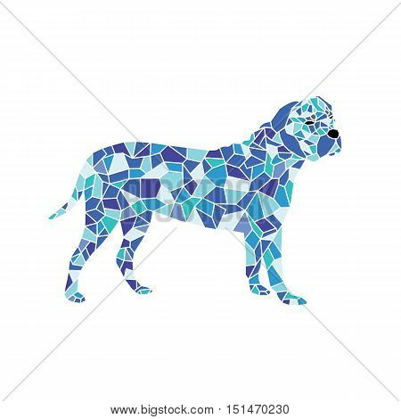 pet dog colorful mosaic pattern designed using mosaic pattern graphic vector