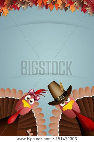 an illustration of Turkeys for Thanksgiving Day