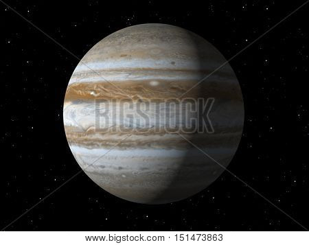 3d rendering of the planet Jupiter Elements of this image furnished by NASA